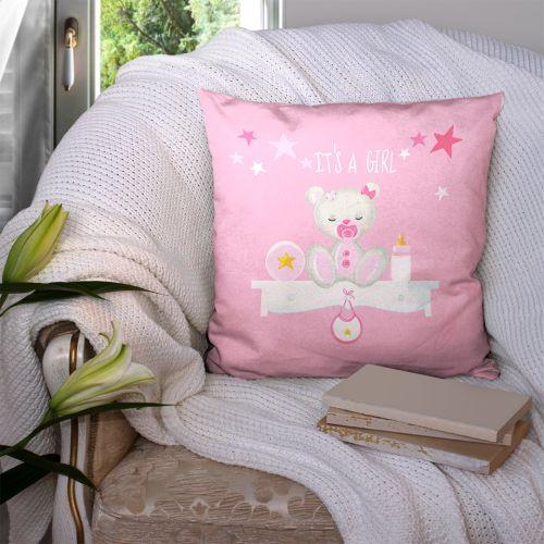 Coupon 45x45 cm motif it's a girl - Création Créasan'