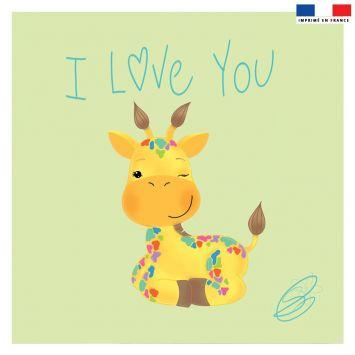Coupon 45x45 cm motif I Love You - Création Créasan'
