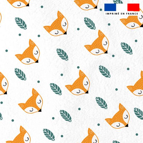 Polaire blanche motif renard