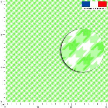 Pied de poule vert clair - Fond blanc