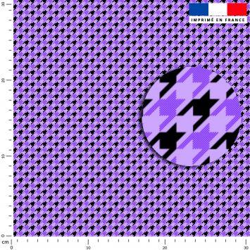 Pied de poule violet - Fond noir