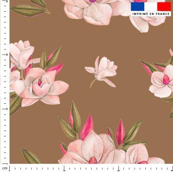Fleur japonaise - Fond marron