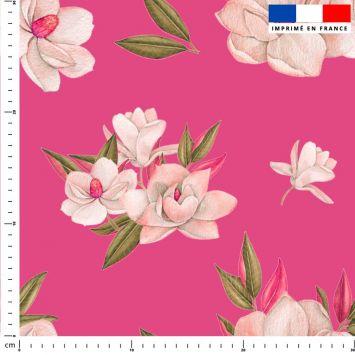 Fleur japonaise - Fond rose