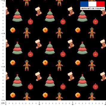 Pain d'épice Noel - Fond noir