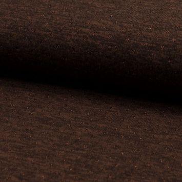 Lainage fin et ajouré avec un fil lurex marron