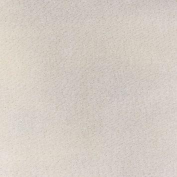 Toile polycoton blanc fil or