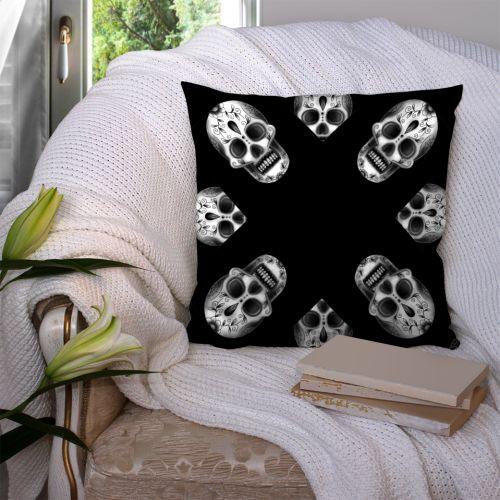 Coupon 45x45 cm motif crâne noir - Création Créasan'