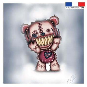 Coupon 45x45 cm motif ourson monstre - Création Créasan'