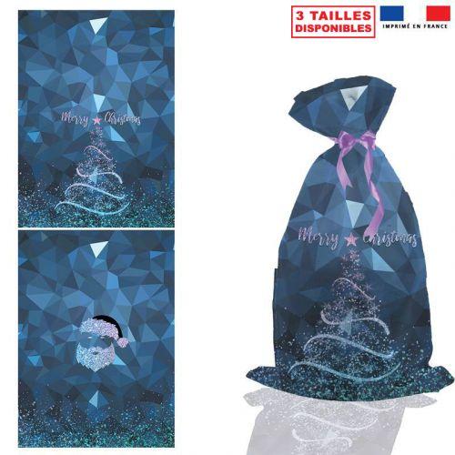 Kit hotte de Noel motif Merry Christmas féerique