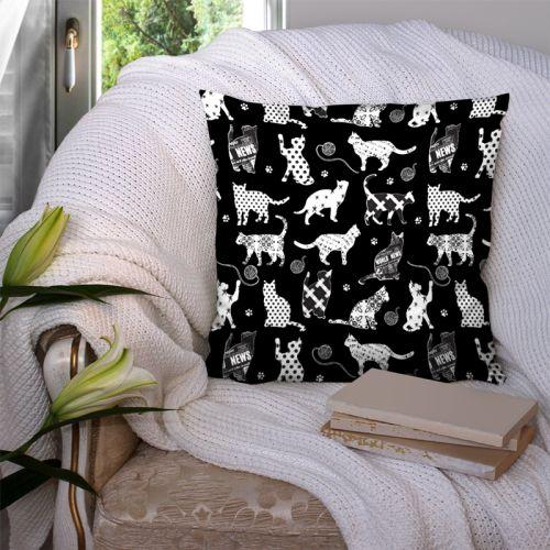Chat blanc fantaisie - Fond noir