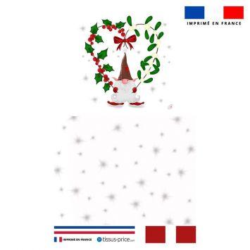 Kit pochette blanc motif lutin de Noel - Création Créasan'