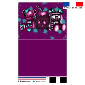 Kit pochette motif doudou vaudou - Création Créasan'