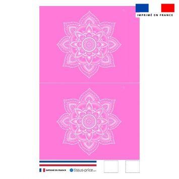 Kit pochette rose motif mandala - Création Créasan'