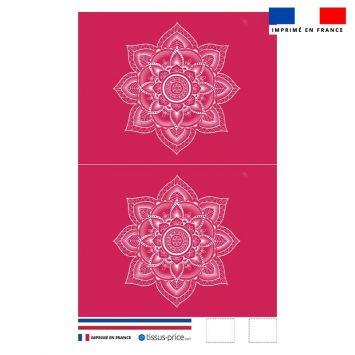 Kit pochette framboise motif mandala - Création Créasan'