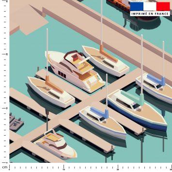 Tapis de jeu motif bateau - Fond bleu