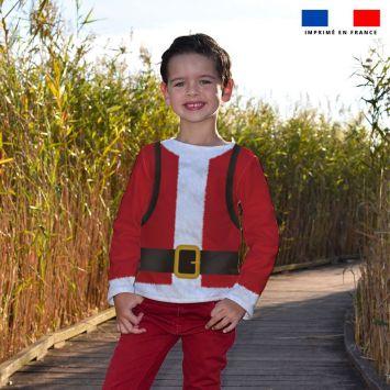 Kit pull Noel en polaire motif père Noel