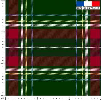 Tartan écossais vert et rouge