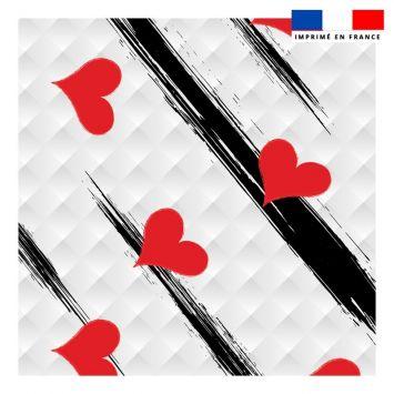 Coupon 45x45 cm motif coeur