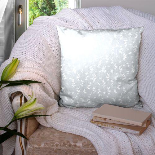 Bambou blanc - Fond gris