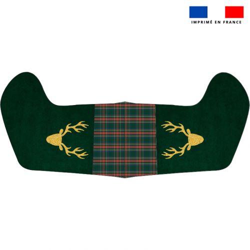 Kit chaussette de noel vert motif renne doré