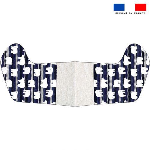 Kit chaussette de noel motif ours scandinave