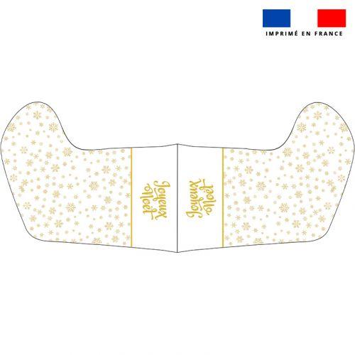 Kit chaussette de noel motif flocon doré