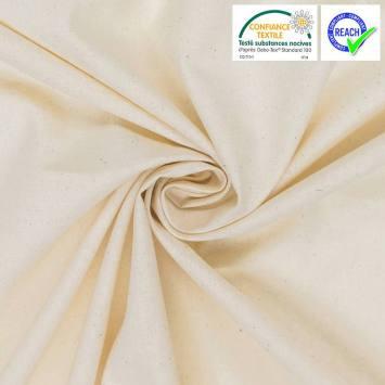 Coton uni couleur naturelle