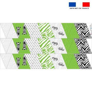 Coupon pour fanions motif zèbre - Création Anne Clmt