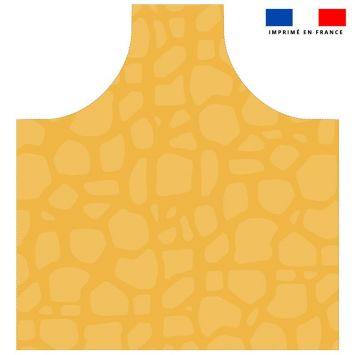 Patron imprimé pour tablier motif tâches de girafe jaunes - Création Anne Clmt