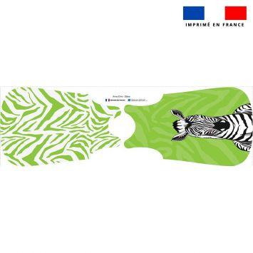 Coupon pour gigoteuse motif zèbre vert - Création Anne Clmt