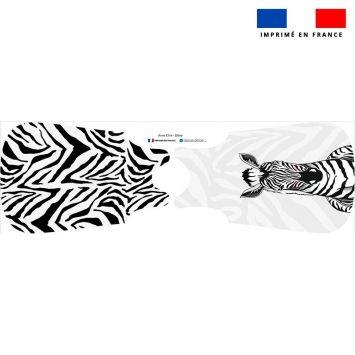 Coupon pour gigoteuse motif zèbre blanc et noir - Création Anne Clmt
