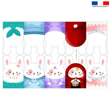 Kit mini-gants nettoyants motif princesse
