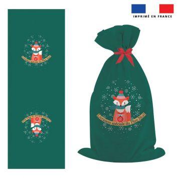 Kit hotte de Noel motif renard