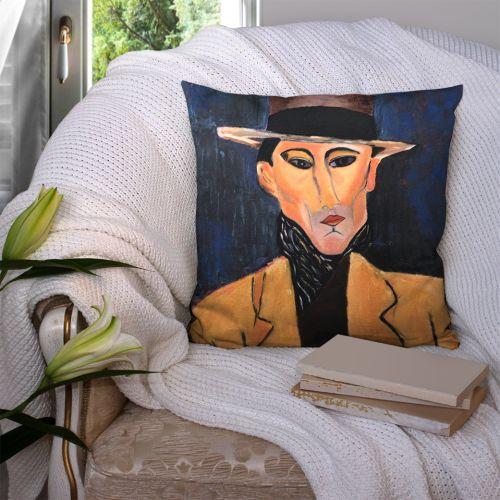 Coupon 45x45 cm motif portrait masculin - Création Lilou L