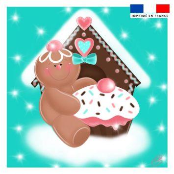 Coupon 45x45 cm motif biscuit en pain d'épices - Création Créasan'