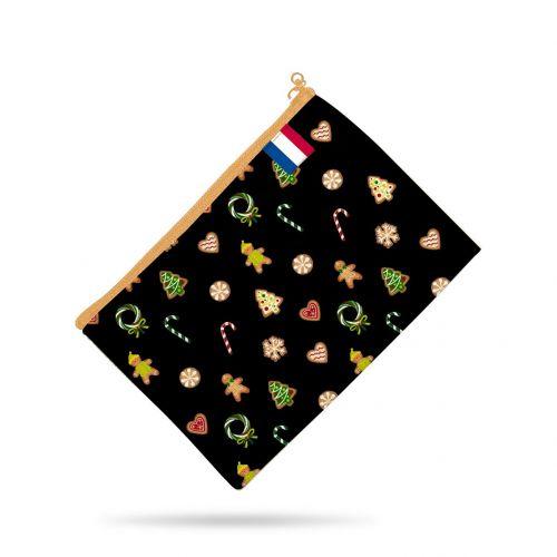 Kit pochette noir motif gourmandise - Création Créasan'