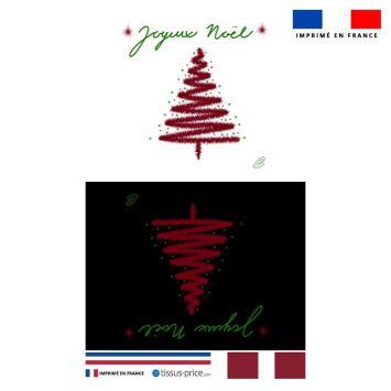 Kit pochette motif joyeux noel - Création Créasan'
