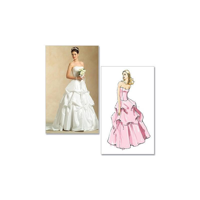 Patrons Mc Calls M5321 : Haut et jupe pour mariée Taille : 34-40
