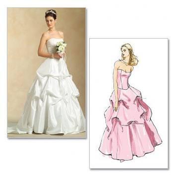 Patrons Mc Calls M5321 : Haut et jupe pour mariée Taille : 42-48