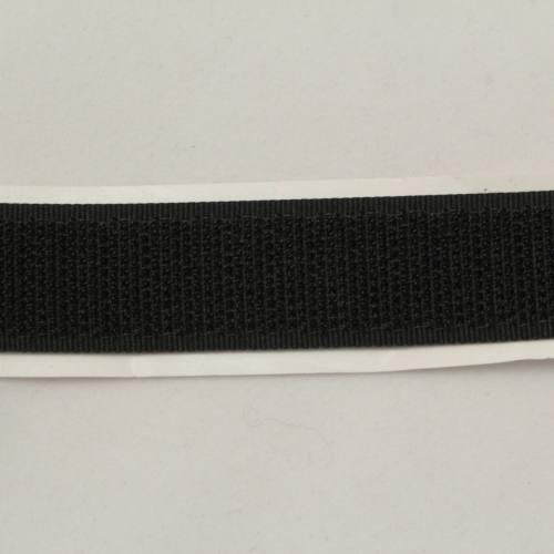 Rouleau 25m Auto-agrippant adhésif crochet 20 mm noir