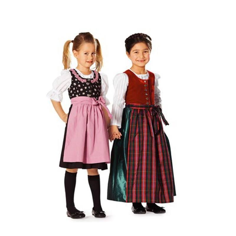 Burda 9509 Robe folklore Taille : 4-10ans
