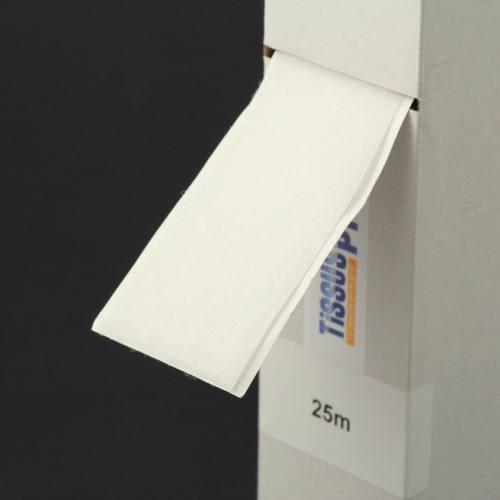 Rouleau 25m Auto-agrippant adhésif velours 50 mm blanc