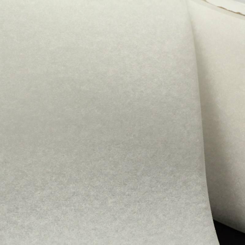 Rouleau 25m Auto-agrippant à coudre velours 100 mm blanc
