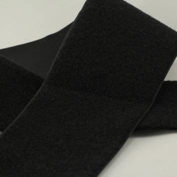 Auto-agrippant à coudre velours 100 mm noir