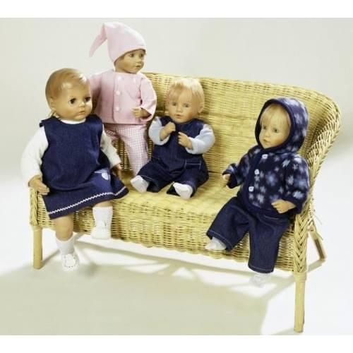 Patron N°8591 Burda créative : habits de poupée