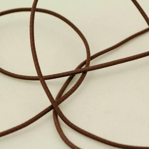 Cordon élastique 2 mm marron