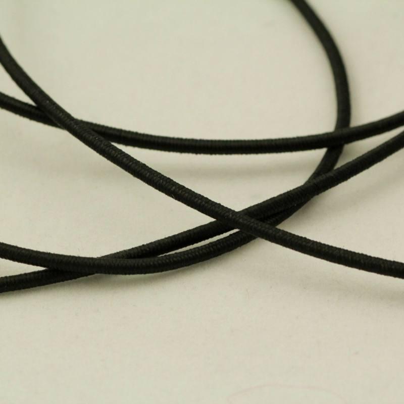 Cordon élastique 3 mm - noir