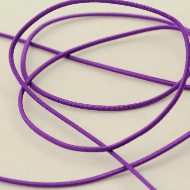 Cordon élastique 2 mm violet