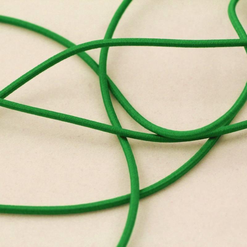 Cordon élastique 3 mm - vert