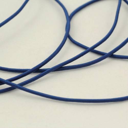 Cordon élastique 2 mm bleu marine